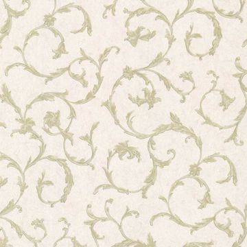 Clover Green Acanthus Scroll
