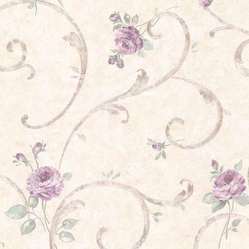Lotus Lavender Floral Scroll