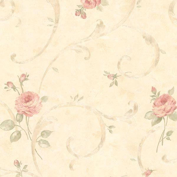 Lotus Pink Floral Scroll