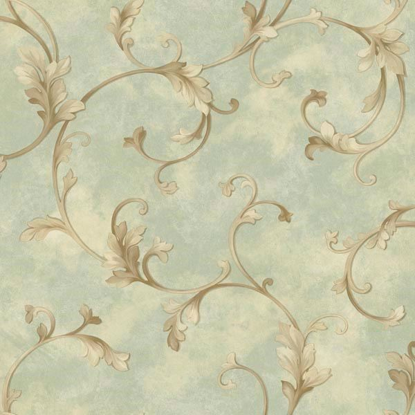 Voluta Green Acanthus Scroll