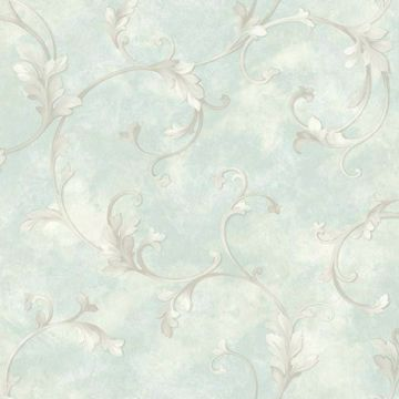 Voluta Blue Acanthus Scroll