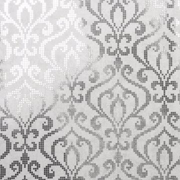 Venus Silver Foil Mini Damask