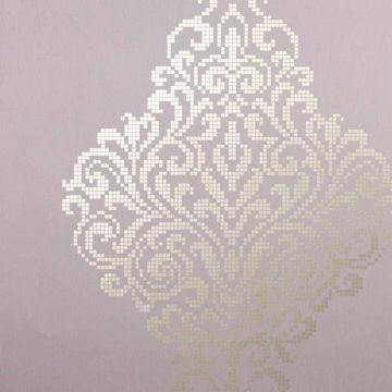 Lux Lavender Metallic Damask