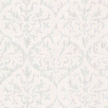 Sumatra Silver Ikat Damask