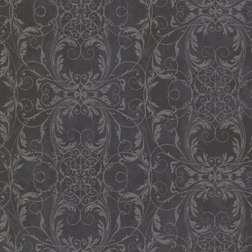 Tianna Charcoal Ironwork Scroll