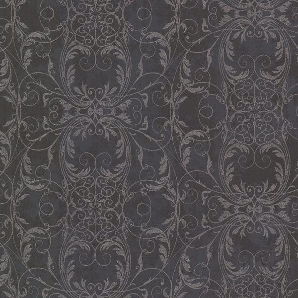 Tianna Charcoal Ironwork Scroll