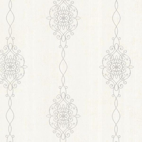 Alvina Platinum Ironwork Stripe