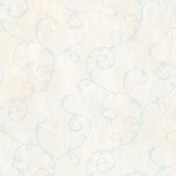 Mimosa Blue Scroll