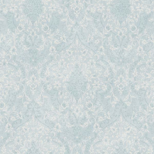 Essex Blue Lacey Damask