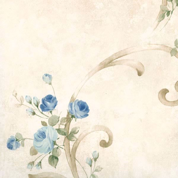 Escot Blue Tearose Acanthus