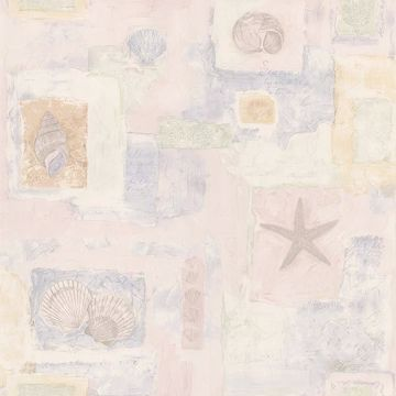 Evie Light Pink Seashell Mosaic