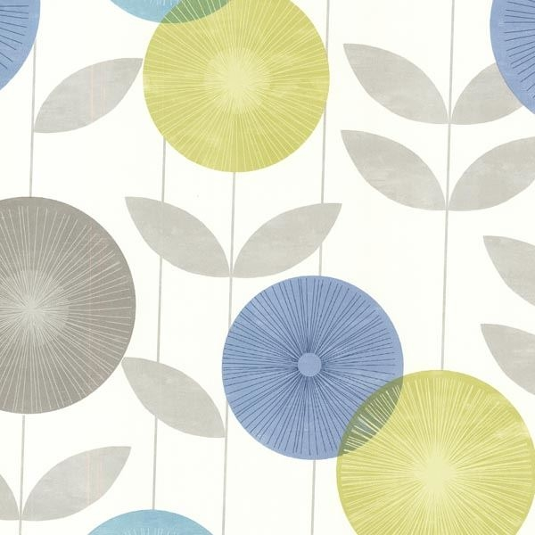 Monroe  Aquamarine Modern Floral