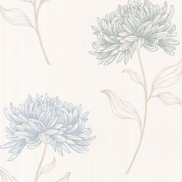 Dehlia Blue Floral Toss