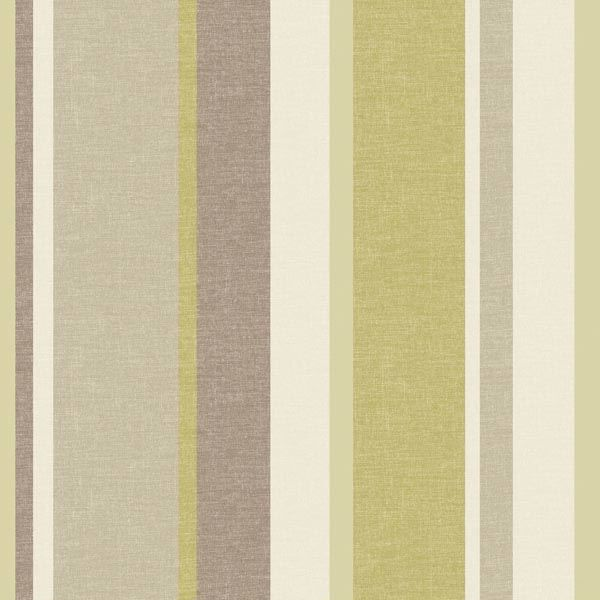 Keene Green Linen Stripe