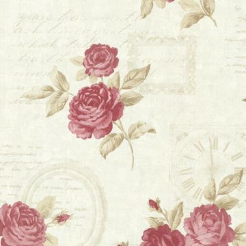 Venetia Mint Vintage Rose Toss