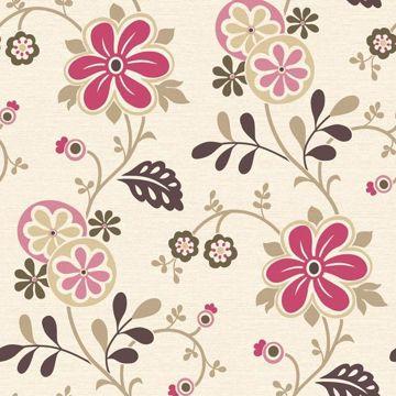 Darlene Magenta Modern Floral Trail