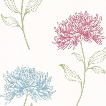 Dehlia Pink Floral Toss