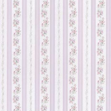 Merle Lavender Floral Stripe