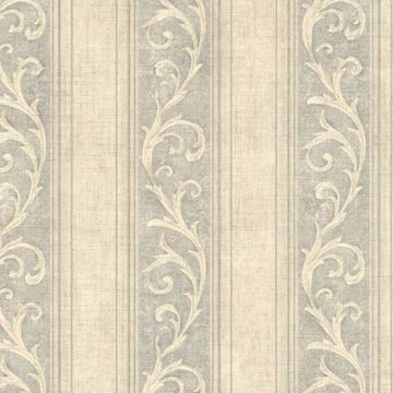 Picture of Farnworth Sage Scroll Stripe