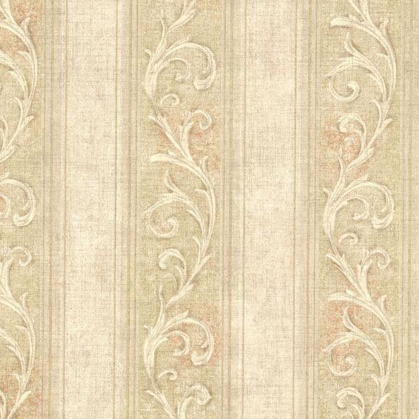 2601 20837 Gold Scroll Stripe Farnworth Brocade