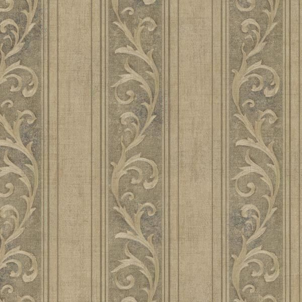Picture of Farnworth Olive Scroll Stripe