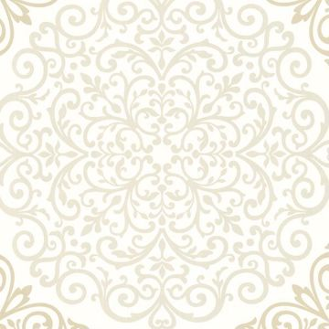 Cassidy Cream Medallion Damask