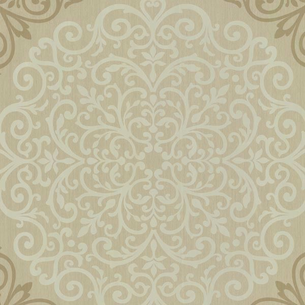 Cassidy Bronze Medallion Damask