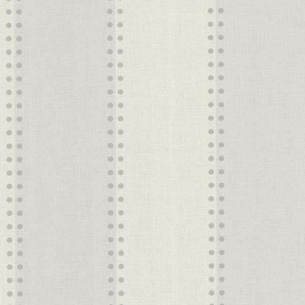 Cullen Light Grey Nailhead Stripe