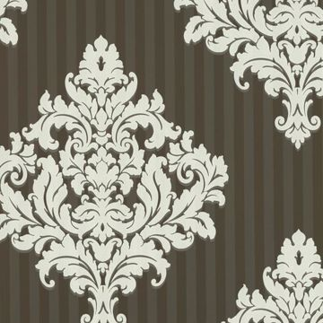Rowan Chocolate Damask Stripe
