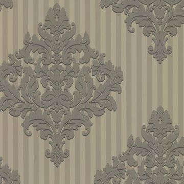 Rowan Pewter Damask Stripe