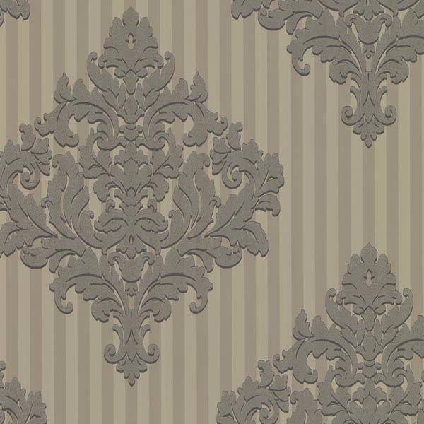 Rowan Pewter Damask Stripe