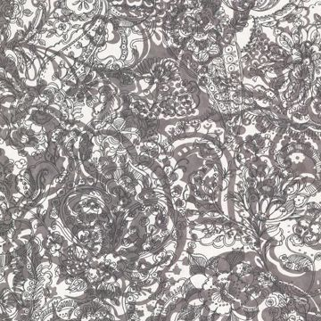 Bandana Charcoal Floral Paisley