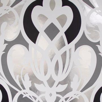 Sahrzad Silver Nouveau Damask
