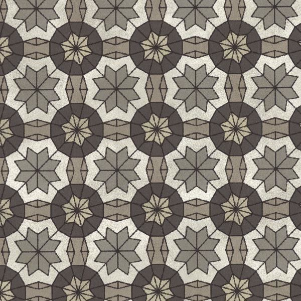 Marqueterie Pewter Mosaic Geometric