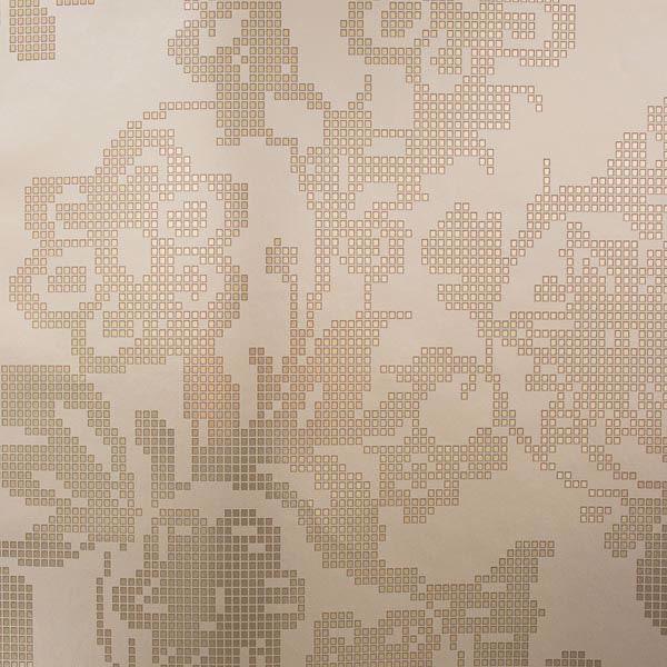 Sadira Brass Pixelated Modern Floral