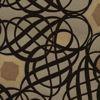 Caspian Brown Swirling Geometric