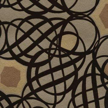 Caspian Brown Swirling Geometric