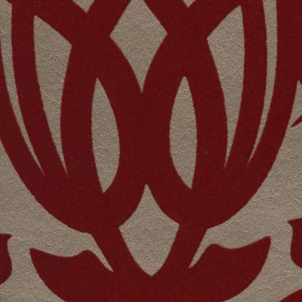 Sahrzad Red Nouveau Damask
