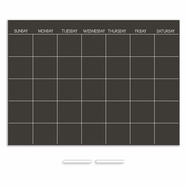 Chalk Monthly Calendar
