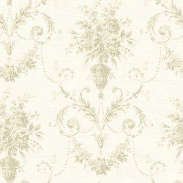 Calantha Cream Floral Urn Damask