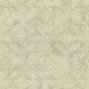 Christiana Wheat Damask Medallion