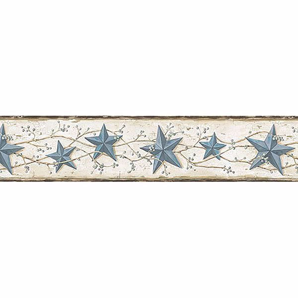 June Blue Heritage Tin Star Border
