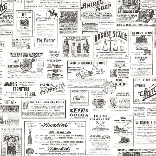 Adamstown Ivory Vintage Newspaper