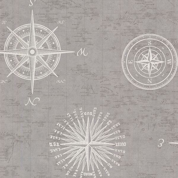 Picture of Navigate Grey Vintage Compass