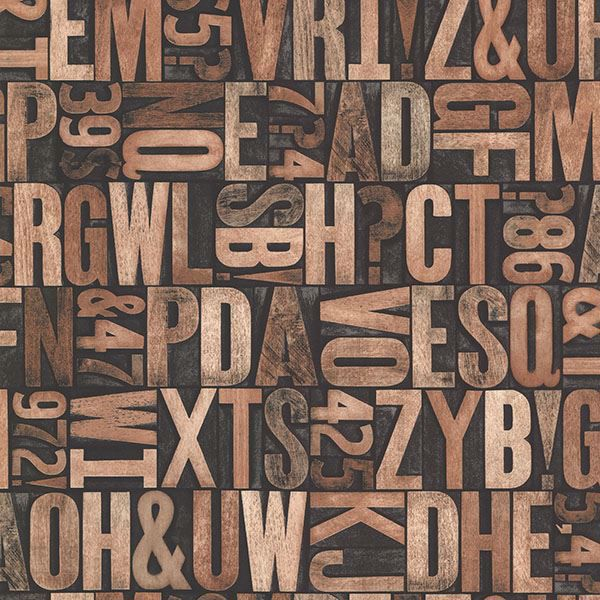 Picture of Letterpress Brown Typography