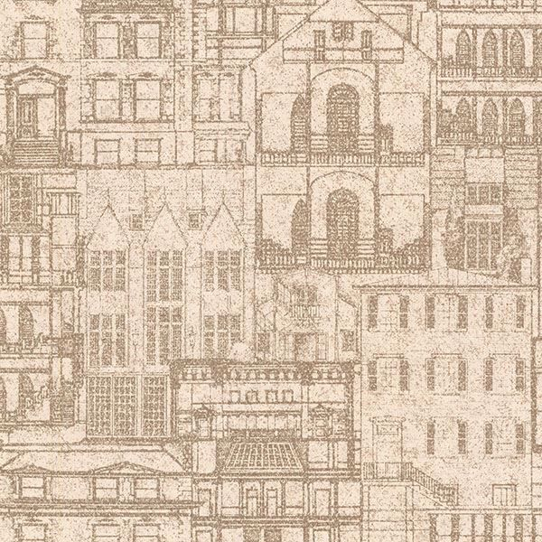 Picture of Facade Sand Vintage Blueprint