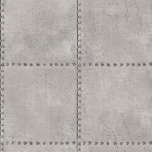 Picture of Riveted Silver Industrial Tile