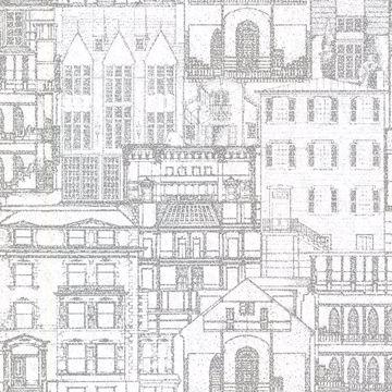 Picture of Facade Light Grey Vintage Blueprint