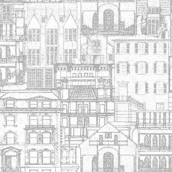 Picture of Facade Light Grey Vintage Blueprint