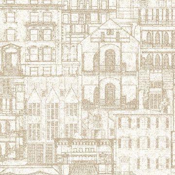Picture of Facade Beige Vintage Blueprint